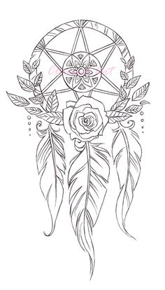 dreamcatcher for coloring projects set of 3 on etsy - Dream Catcher Coloring Pages