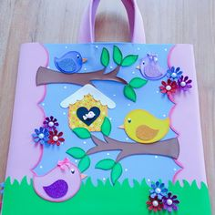 Diy Arts And Crafts, Crafts For Kids, Paper Crafts, Big Paper Flowers, Birdhouse Craft, Diary Decoration, Puppets For Kids, Little Duck, Bulletins
