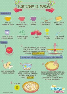 Tortinha doce Cooking Time, Cooking Recipes, Delicious Desserts, Yummy Food, Menu Dieta, Portuguese Recipes, Food Illustrations, I Love Food, No Cook Meals