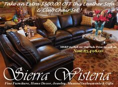 Get ready for the Holidays! Sierra Wisteria 325 Main St., Chester/Lake Almanor, CA 96020 (530)258-4205  www.SierraWisteria.com