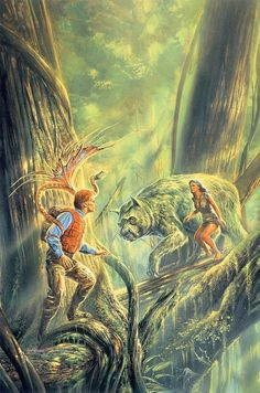 Artwork: mid flinx by fantasy artist Bob Eggleton. See more artwork by this featured artist on the fantasy gallery website. Fantasy Wolf, Fantasy Warrior, Arte Sci Fi, Sci Fi Art, Fantasy Images, Fantasy Artwork, Wolf Artwork, Fantasy Book Covers, Science Fiction Art