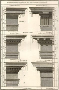 Classical architraves and cornices.