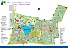 Parkplattegrond van camping Bosbad Hoeven | Molecaten