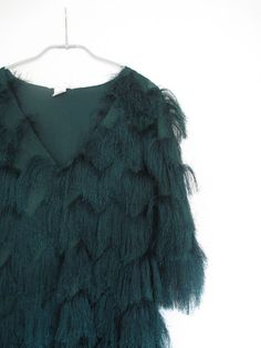 Strangeness and Charms: NEW IN: emerald green lace & fringes, fake fur, pussy bow, hot pink & electric blue.