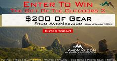 Enter for your chance to win a $200 AvidMax Gift Certificate! Enter Now, then get 5 bonus entries every time anyone enters from your shared link! Good luck!