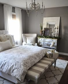 Raleigh Upholstered Curved Bed with Low Headboard & Pewter Nailheads ...