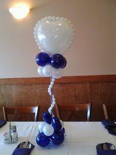 Balloon Centerpiece or Column.  #balloon-column #balloon-decor #balloon-wedding-decor #balloon-wedding-column