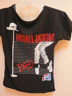 Michael Jackson Bad Pepsi Black T-Shirt.