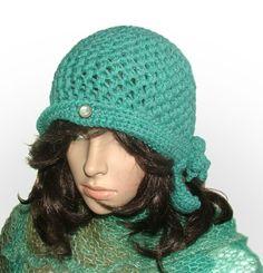 turquoise hat #crochet beanie be Renate Kirkpatrick