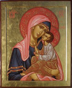Mother Mary and Christ in an unusual representation, yet very beautiful