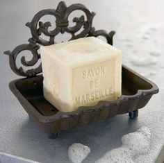 French Soap in Cast Iron Dish