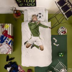 Soccer Champ Duvet Cover #Cotton, #Cover, #Duvet, #Football, #Soft