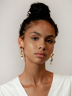 Wolf Circus Lunette Earrings Gold