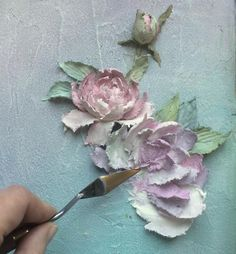 19 Ideas For Wall Painting Techniques Texture Palette Knife Plaster Sculpture, Plaster Art, Sculpture Painting, Wall Sculptures, Diy Painting, Sculpture Projects, Sculpture Ideas, Painting Flowers, Sculpture Clay