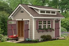 This custom storage shed is specifically designed to meet your unique storage needs.  Use it to put away your holiday decor, lawn equipment or children's belongings. Use your shed your way!