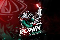 Ronin Squad - Mascot & Esport logo by AQR Studio on Creative Market, Creative Logo, Team Logo Design, Logo Design Services, Sport Design, Logo Esport, Design Art, Graphic Design, Art Designs