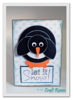 I've seen a snowman done the same way - but penguin - SO CUTE!