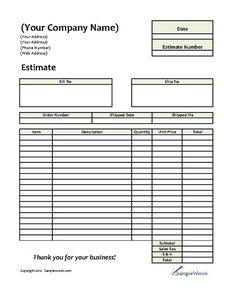 Printable Blank Bid Proposal Forms | Printable Quote Template ...