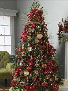arvores de natal decoradas com laços - Pesquisa Google