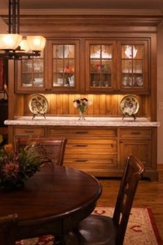 Dining Room Built in China cabinet perfect finish and style for all of kitchen and dining