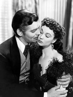 Clark Gable & Vivien Leigh. Gone With the Wind