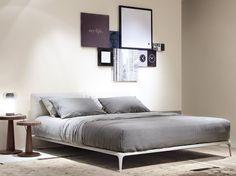 PARK Cama de tela by Poliform diseño Carlo Colombo