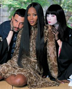 My ideal hairstyle on Naomi Campbell for Vogue Japan September 2014.