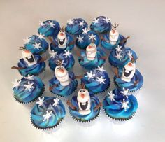 Frozen Themed Cupcakes