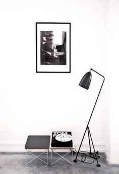 Via Elle Decoration | Grashopper Lamp (Gubi) | Eames LTR Table