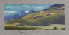 Nathan Fowkes, Land Sketch: More sketches of the Foothills outside Provo, Utah.