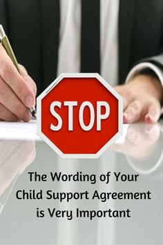 Child Support: Wording of Order or Agreement