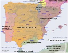 Sequential historical atlas showing a detailed map of the Iberian Peninsula at the beginning of the year Spain History, European History, World History, Iberian Peninsula, Mystery Of History, Historical Maps, Interesting History, Plans, Portugal