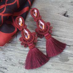 Soutache Earrings, Beaded Brooch, Bead Earrings, Tassel Earrings, Beaded Bracelets, Shibori, Handmade Accessories, Handmade Jewelry, Soutache Tutorial