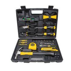 Tool Kit Set DIY Toolbox 65 Piece Home Repair Mechanics Sockets Screwdriver New Tool Box Diy, Tool Kit, Phillips Screwdriver, Screwdriver Set, Home Tools, Diy Tools, Dewalt Cordless Tools, Hand Tool Sets, Mechanic Tools