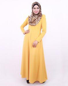 puff shoulder dress by edz.com.my Islamic Fashion, Modest Fashion, Shoulder Dress, Skirts, Collection, Dresses, Vestidos, Gowns, Skirt Outfits