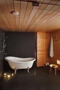 Laundry In Bathroom, Clawfoot Bathtub, Saunas, Interior, Home, Decor, Decoration, Indoor, Ad Home