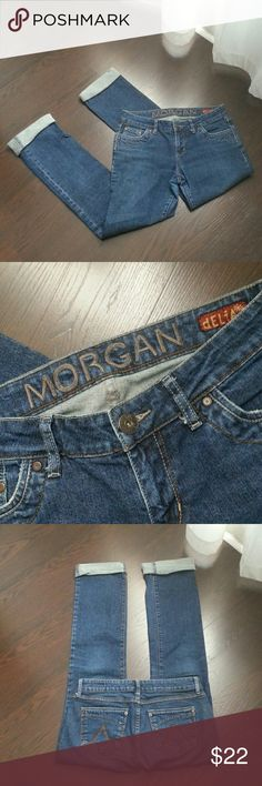 """DELIA*S  morgan fit Cuffed at 29"""" for fashion statement! Can roll them down for 32"""" GREAT SHAPE! delia*s Jeans Straight Leg"""