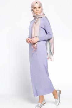 Everyday Basic Lila Triko Elbise 39.90 TL