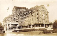 1000 Islands, Frontenac Hotel Before and After 23 Aug. 1911 Fire, 2 Real Photos