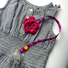 ⚛ Prendedor de chupeta de flor em crochê ⚛ #temqueter #julietaforfun #atelierdecoisasfofas