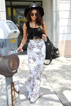 Cropped Top and Floral Printed Skirt