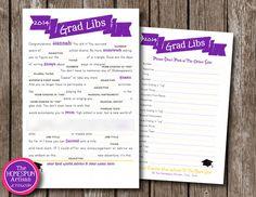 Graduation MAD LIBS Game - High School - Personalized Grad Libs - Printable DIY Option