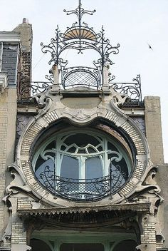 Architectural detail of an art nouveau house