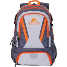 Ozark Trail 35L Choteau Heavyduty Ripstop Material Hydrationcompatible Multiple Storage Compartment Daypack Backpack with 2 Water Bottle Pockets GrayOrange >>> More info could be found at the image url. This is an Amazon Affiliate links.