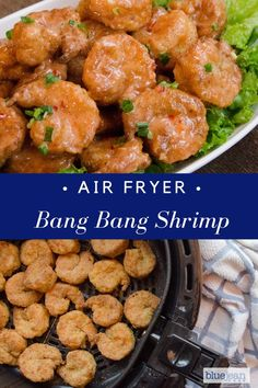 This air-fried bang bang shrimp is highly palatable air fryer recipes. Air Fryer Recipes Potatoes, Air Fryer Oven Recipes, Air Fryer Recipes Shrimp, Deep Fryer Recipes, Air Fryer Dinner Recipes, Seafood Recipes, Cooking Recipes, Healthy Recipes, Bonefish Grill Recipes