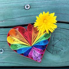 """Rainbow Quilling Heart by all_art_21  on Instagram  """"Good morning!🤗☕️ Since I wake up this morning, I felt that today will be a great day🥰❣️soooo I wish you all  to have a great day!🌈❤️"""" Woke Up This Morning, Wake Me Up, Good Morning, Have A Great Day, All Art, Quilling, Wish, Artworks, Felt"""