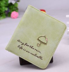 New Brand Reto Scrub Leather Fashion Women's Short Umbrella Wallet Purse Women