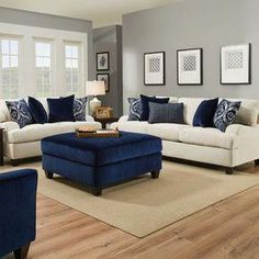 2 pc Sophia stone chenille fabric upholstered sofa and love seat set. This set includes the sofa and the love seat with pocket coil seating. Sofa measures x x H. Love seat measures x x H. Beige Living Rooms, Living Room Colors, Living Room Sets, Living Room Interior, Living Room Furniture, Living Room Designs, Living Room Decor, Navy And White Living Room, Living Spaces