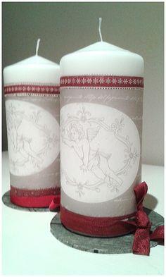 velas decoradas navidad by santadivina