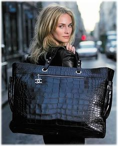 Now that's a bag & I could definitely fit my kid inside if I ever need to smuggle her in or out of somewhere:) Chanel